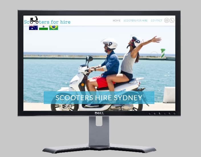 scooters for hire sydney melbourne-Websites by web designer Angie from Fast Cheap Websites Melbourne Sydney Brisbane Adelaide Perth Gold Coast