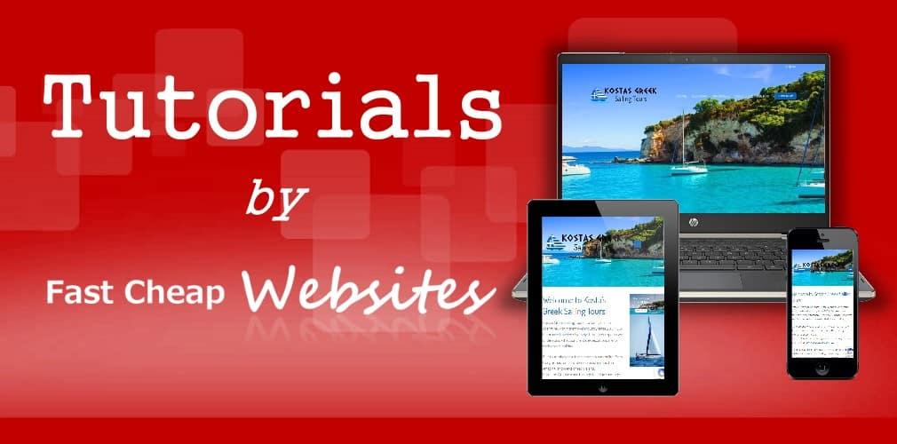 wordpress tutorials by fast cheap websites