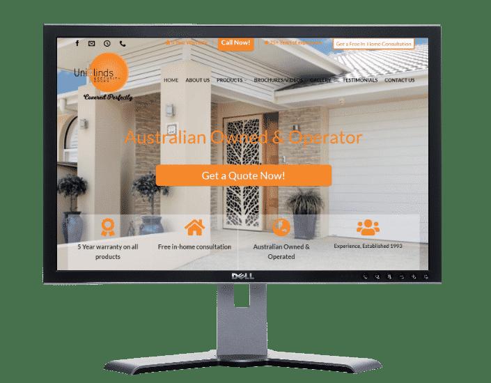 blinds-Websites by web designer Angie from Fast Cheap Websites Melbourne Sydney Brisbane Adelaide Perth